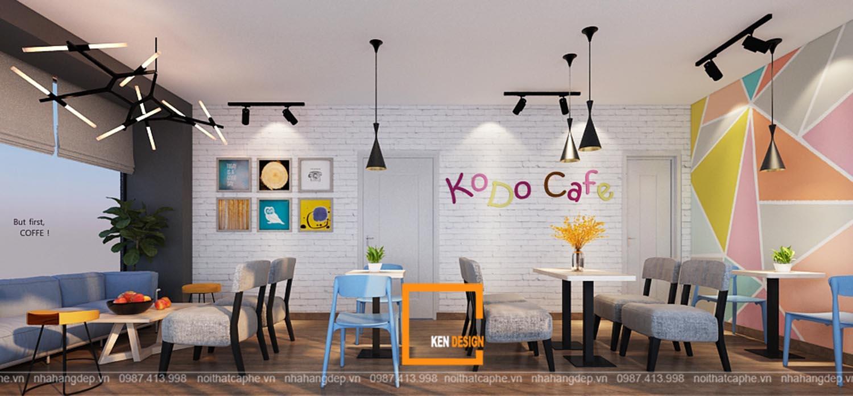 Thiết kế quán KODO CAFE