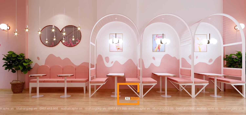 Thiết kế quán kem trà sữa KYOTO SABO