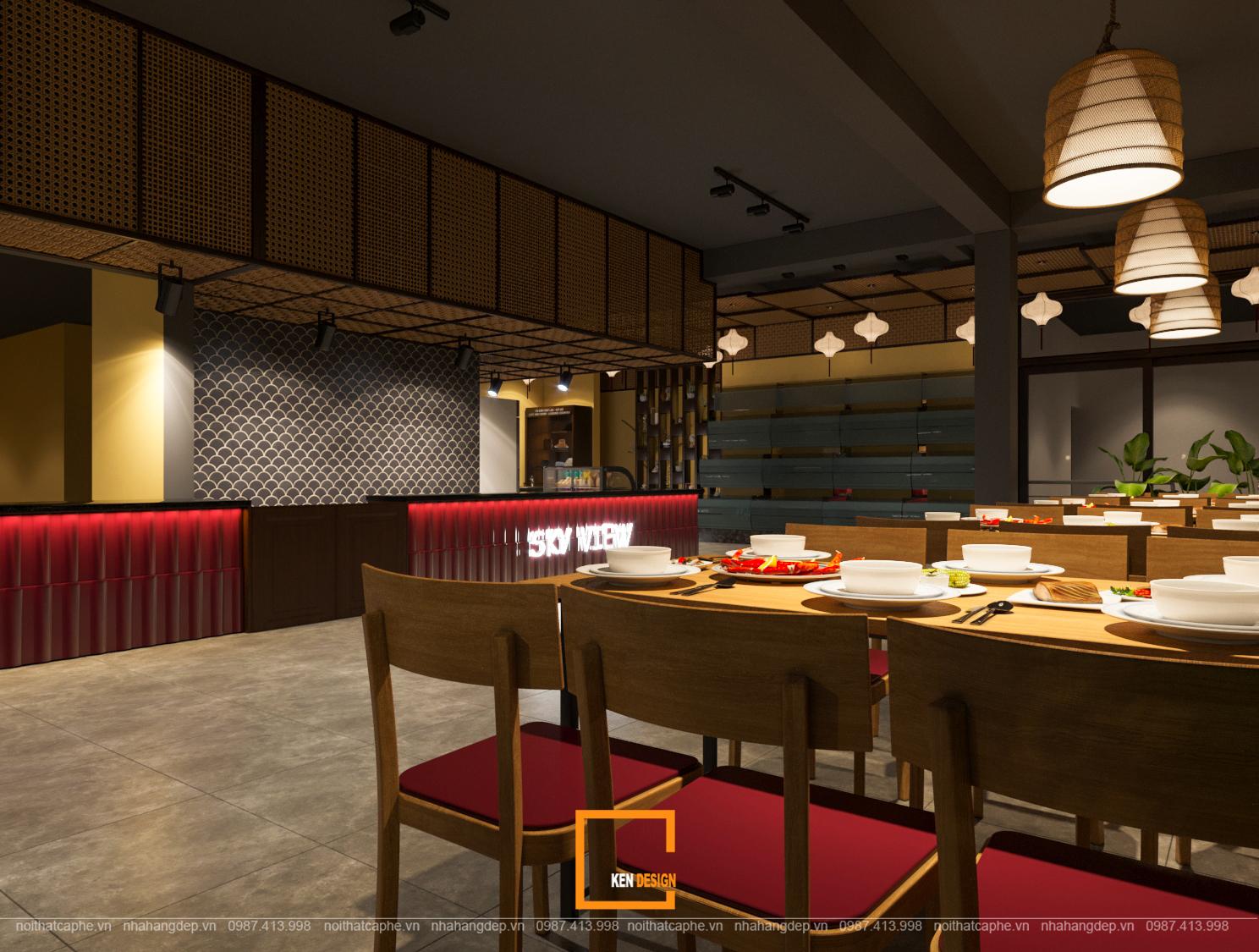 thi công nội thất nhà hàng giá rẻ tại Hà Nội