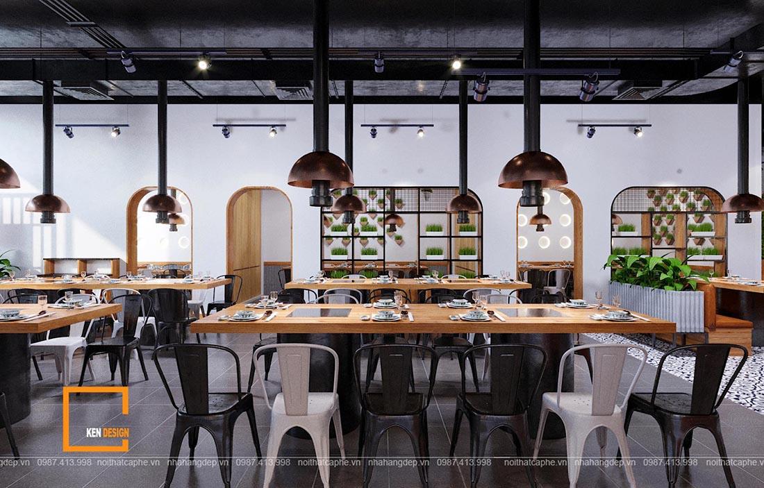 Thiết kế nhà hàng lẩu nướng Le's Grill House