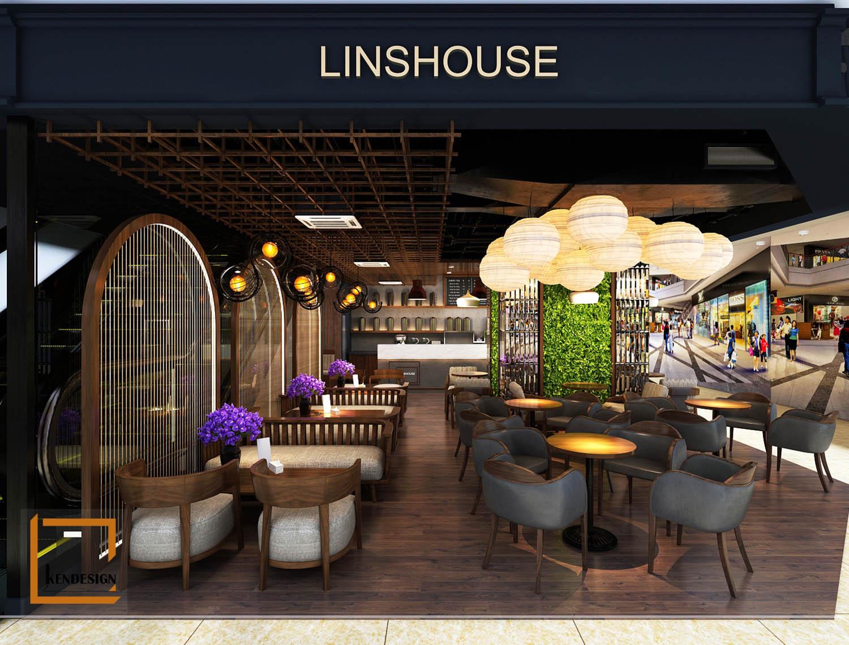 Thiết kế quán trà sữa Lins House