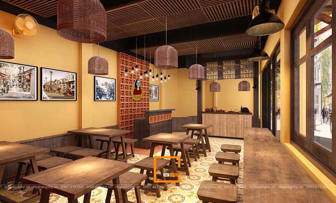 Tham khảo 3 mẫu nhà hàng phong cách thô mộc của KenDesign