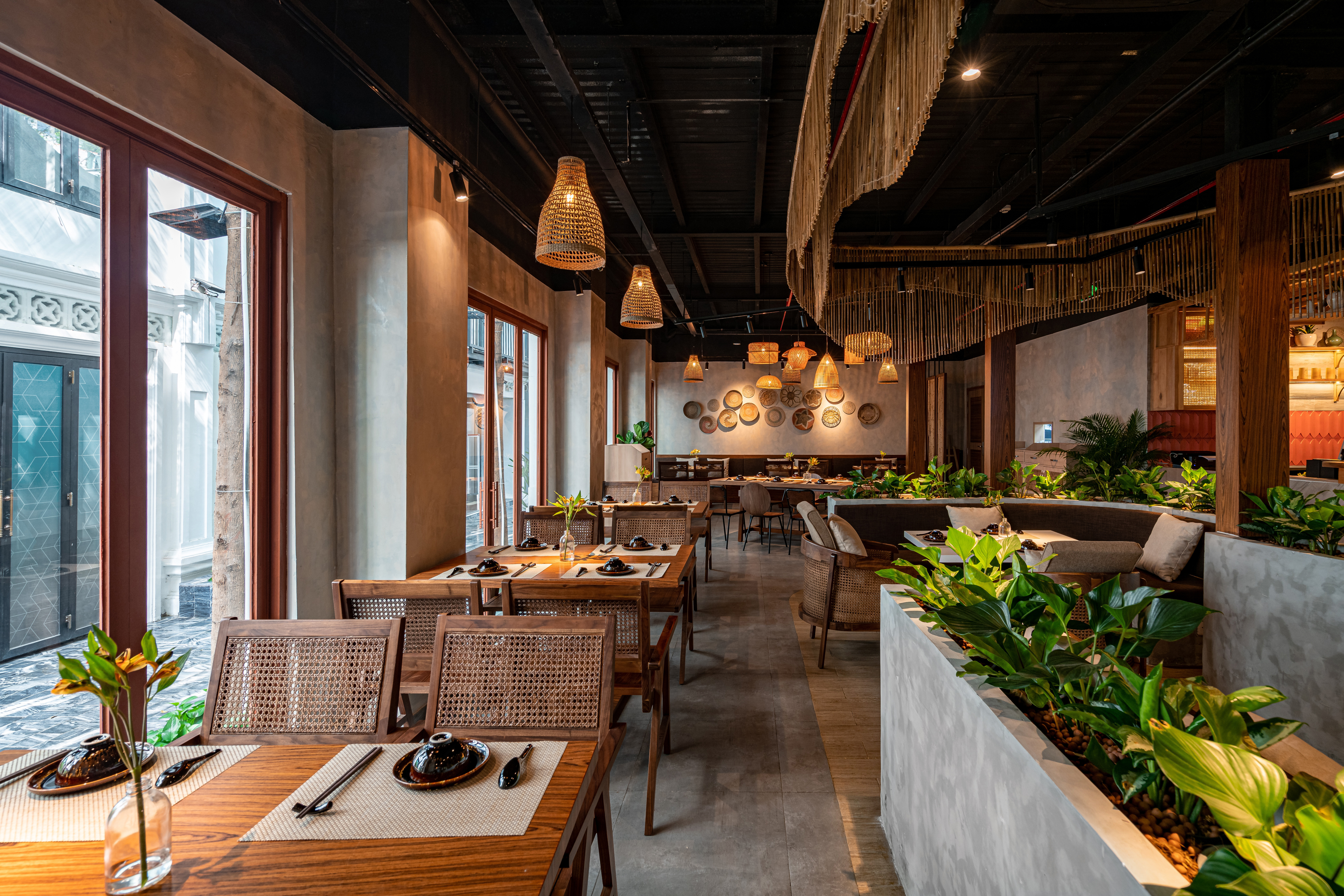 mẫu thiết kế nhà hàng