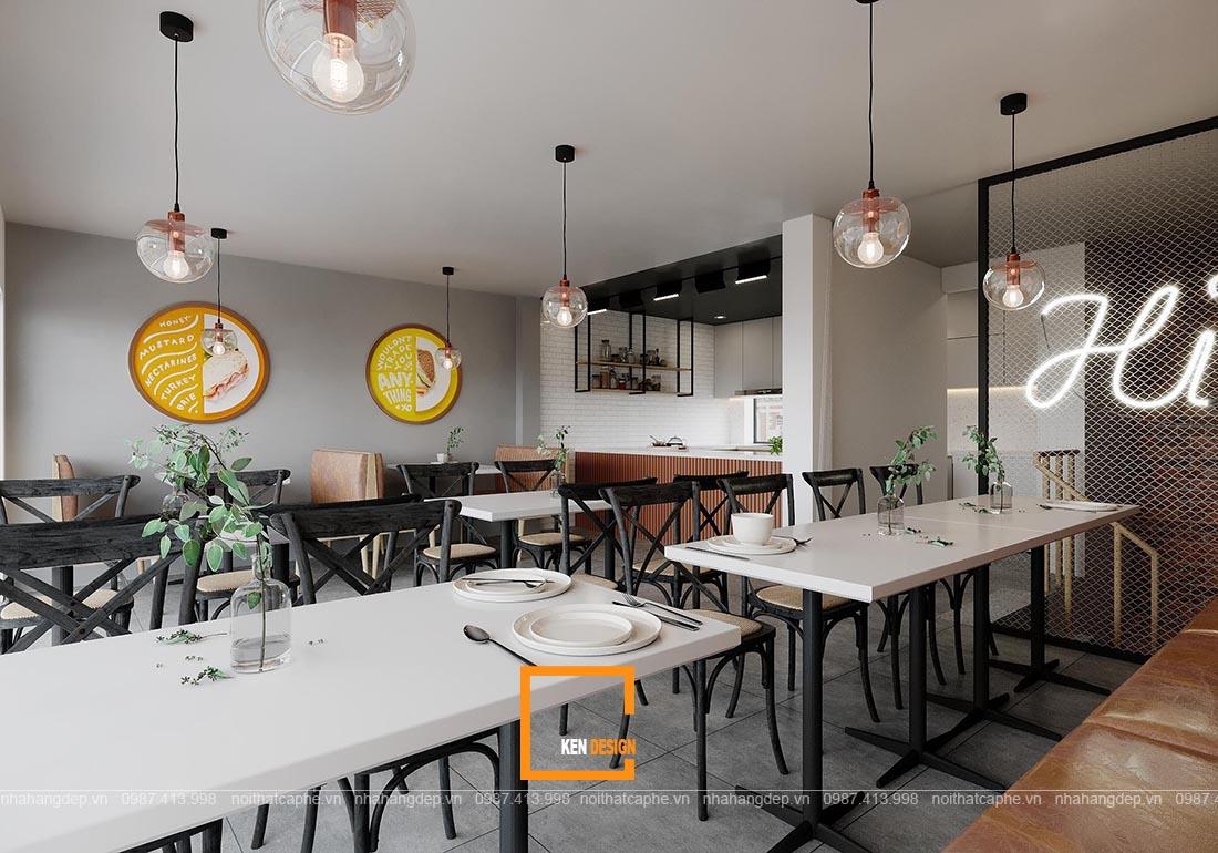 Mẫu thiết kế quán ăn đẹp - Thiết kế quán cơm phong cách hiện đại