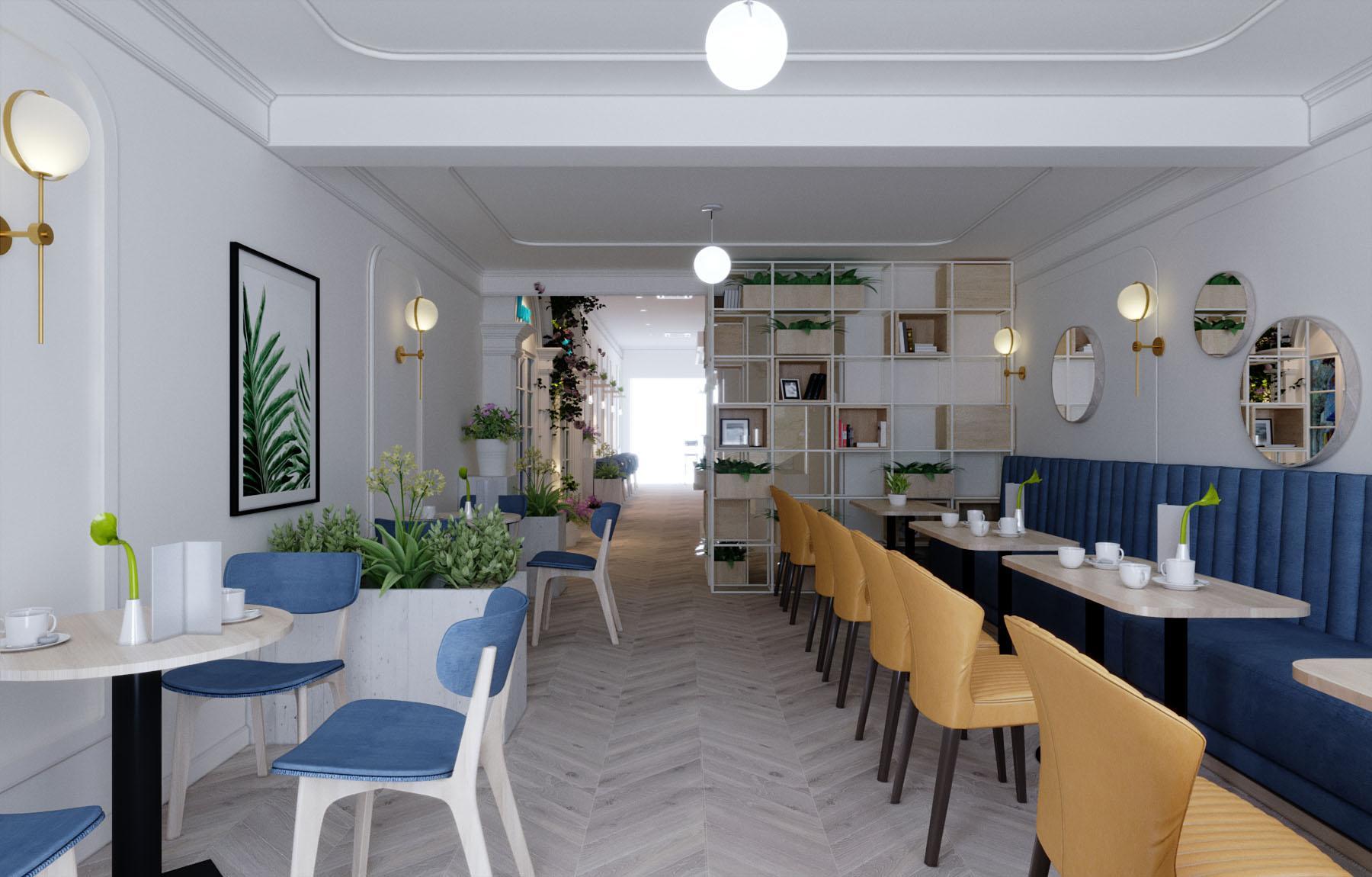 Mẫu thiết kế quán trà sữa