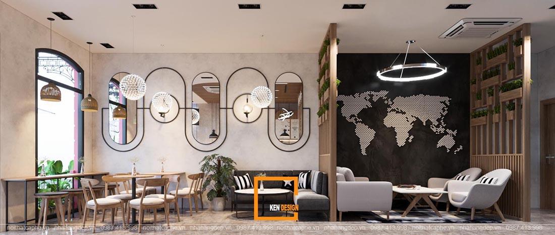 mẹo thiết kế quán cafe
