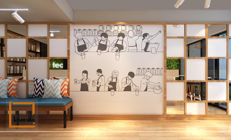 mẹo thiết kế quán trà sữa