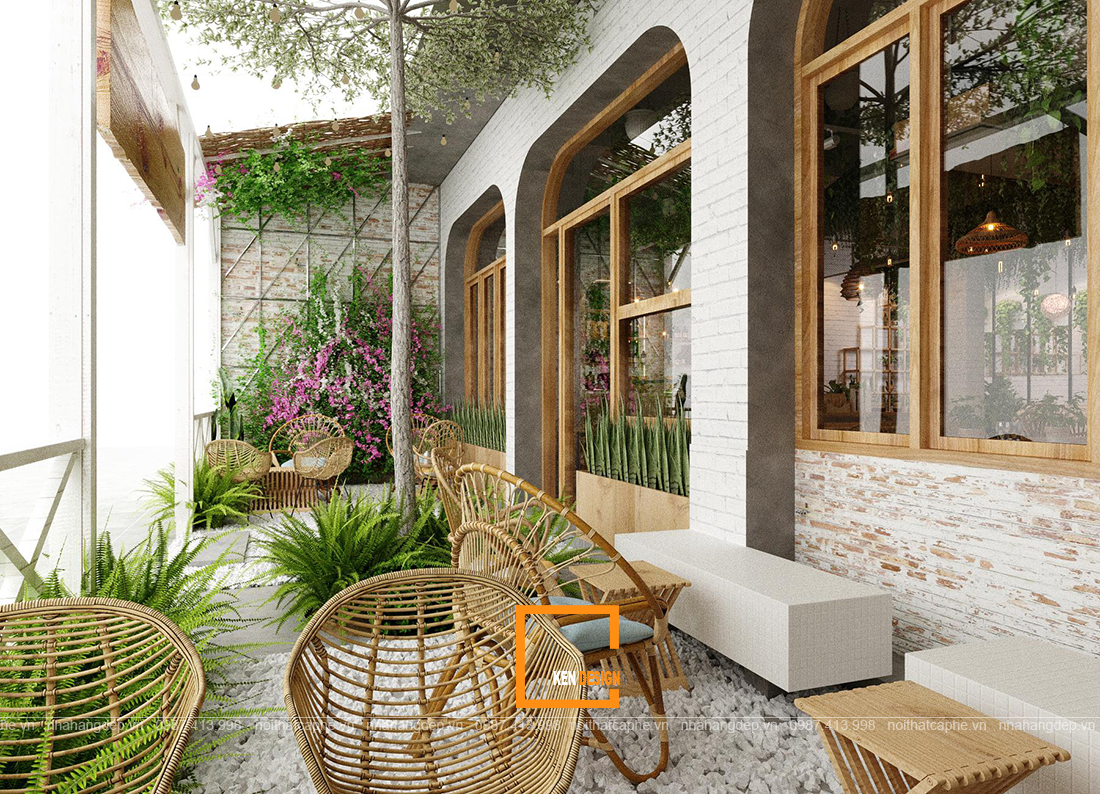 Thiết kế quán cà phê Mini Tropi Coffee tại Nghĩa Tân, Hà Nội