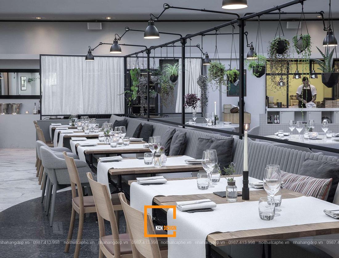 thiết kế nhà hàng buffet phong cách Scandinavian
