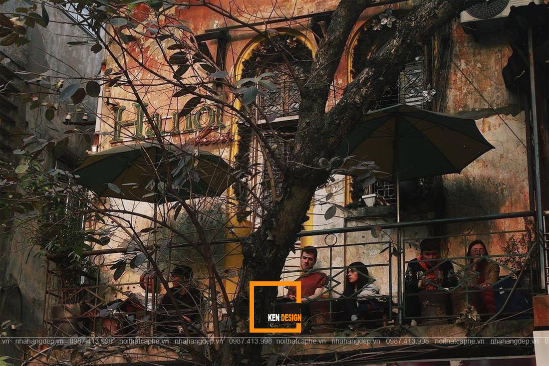 thiết kế quán cafe cổ