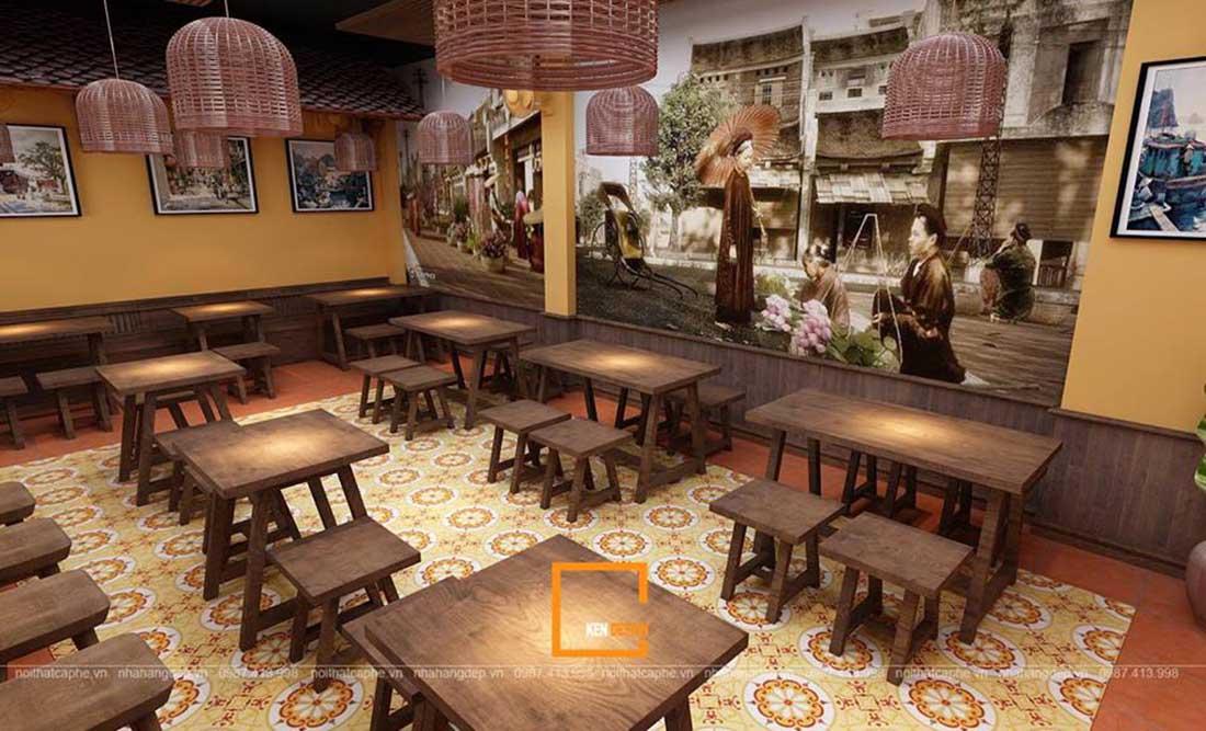thiết kế nhà hàng phở Sướng
