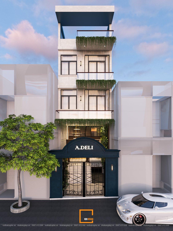 Thiết kế nhà hàng A.DELI- thăng hoa cùng những cung bậc cảm xúc