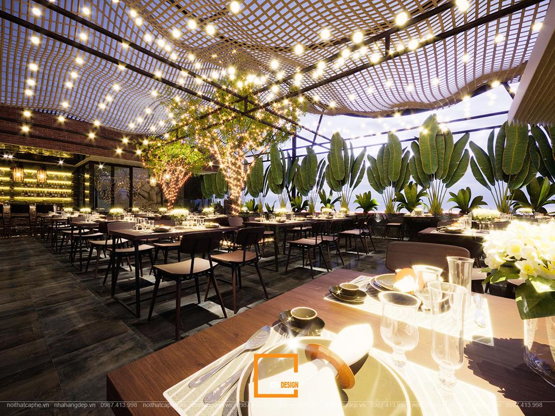 Bí quyết thiết kế nhà hàng ăn uống thu hút khách hàng hiệu quả