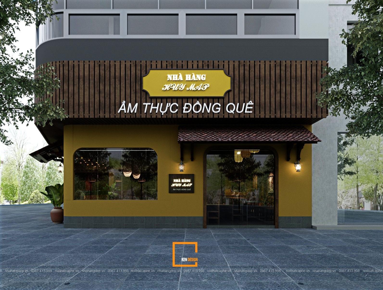 Không gian đậm chất ẩm thực đồng quê trong thiết kế nhà hàng Huy Mập