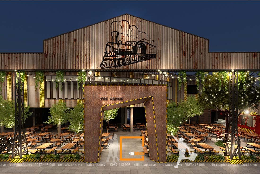 Bản vẽ 3D thiết kế nhà hàng