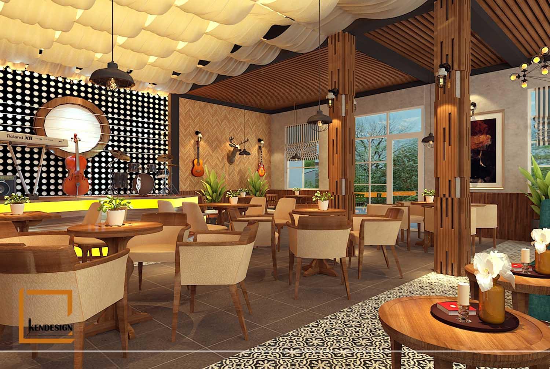 Thiết kế phòng trà cafe