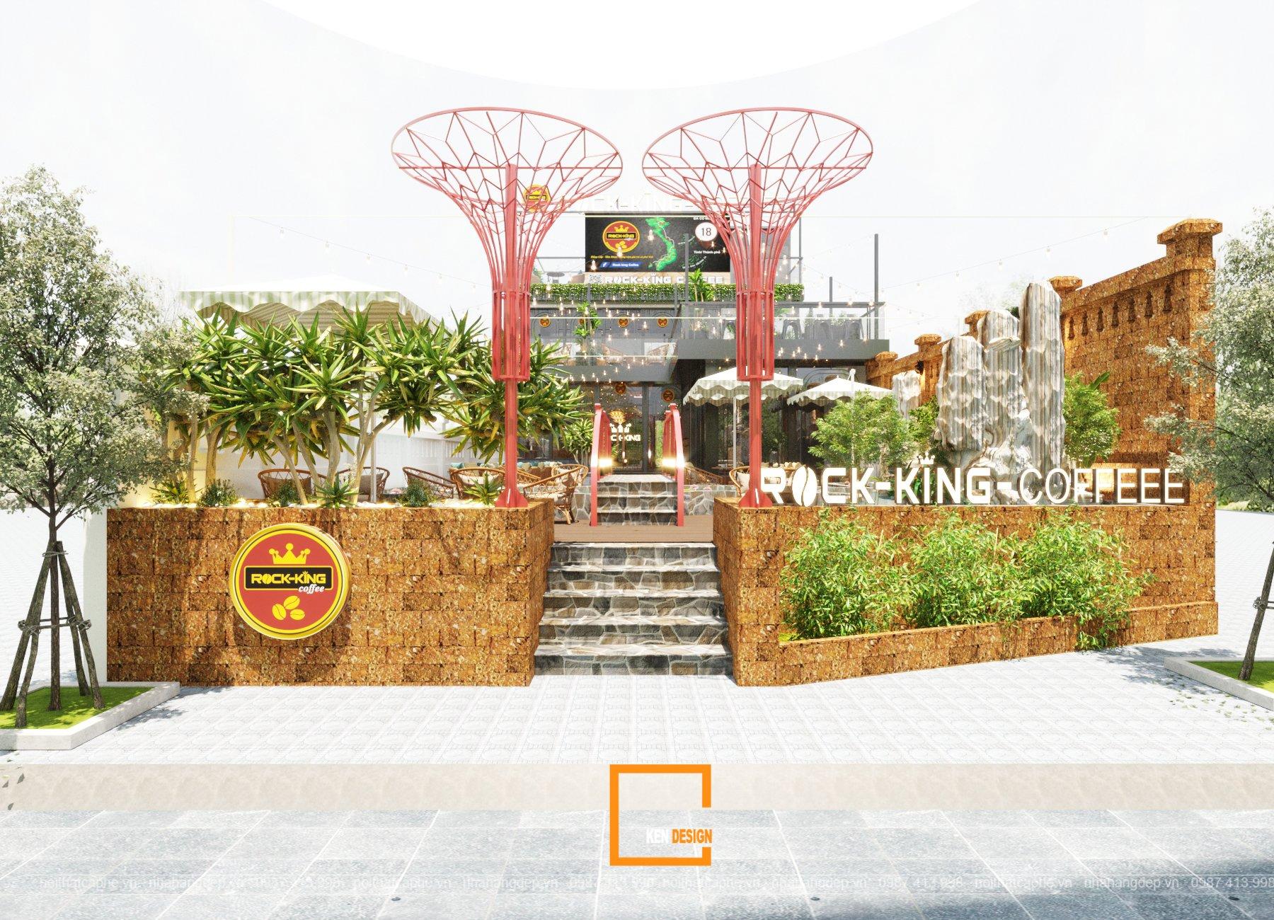 Dự án thiết kế Rock King Coffee tại Quảng Ninh