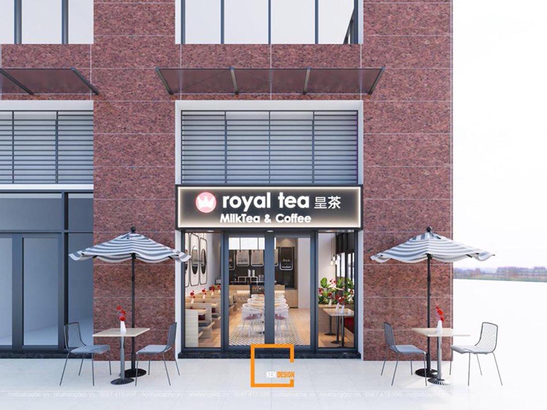 Thiết kế quán trà sữa Roya Tea quận 2