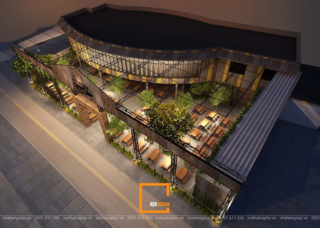 thiết kế kiến trúc nhà hàng.