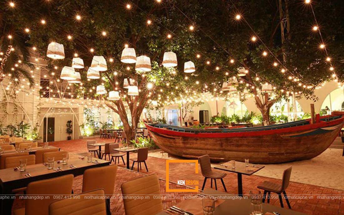 Thiết kế nhà hàng sân vườn – điểm hẹn xanh giữa phố thị