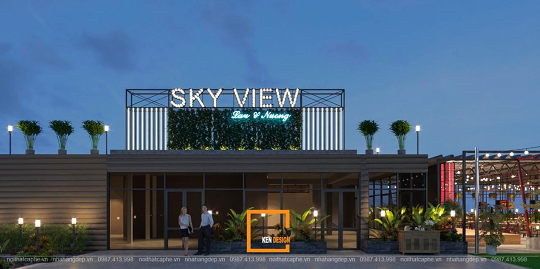 Thiết Kế Nhà Hàng Sky View