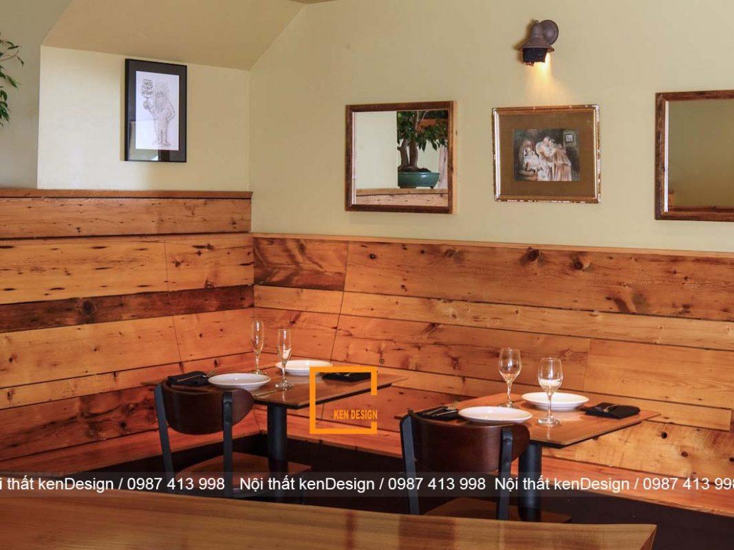 Thiết kế nhà hàng bằng gỗ