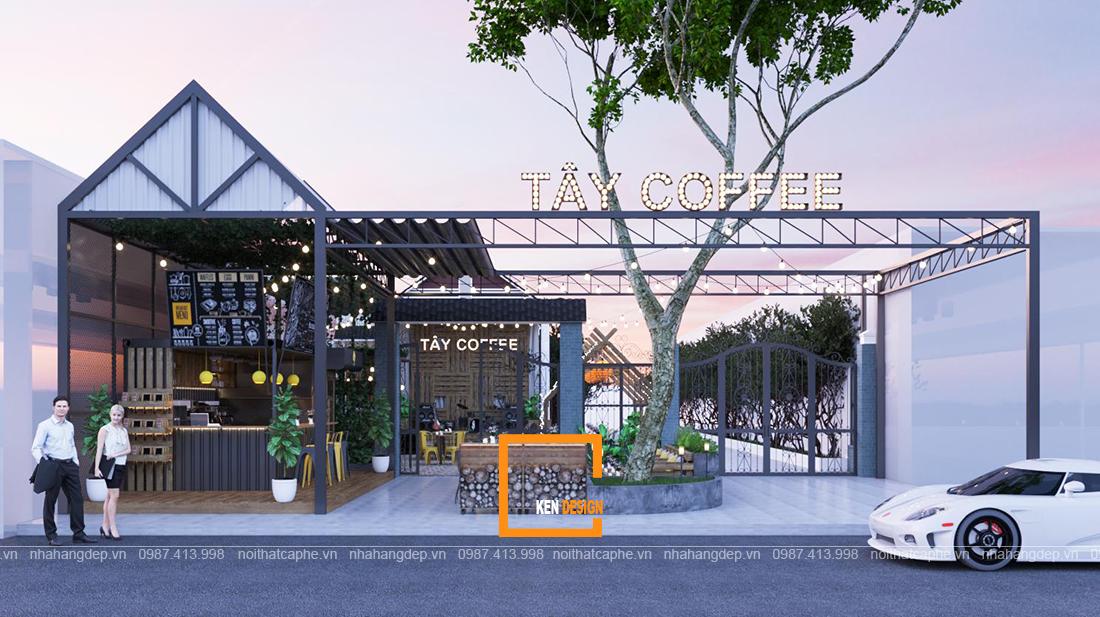 Thiết kế quán Tây Coffee – chiếc thuyền buồm vẽ nên bức tranh tuyệt đẹp miền sông nước