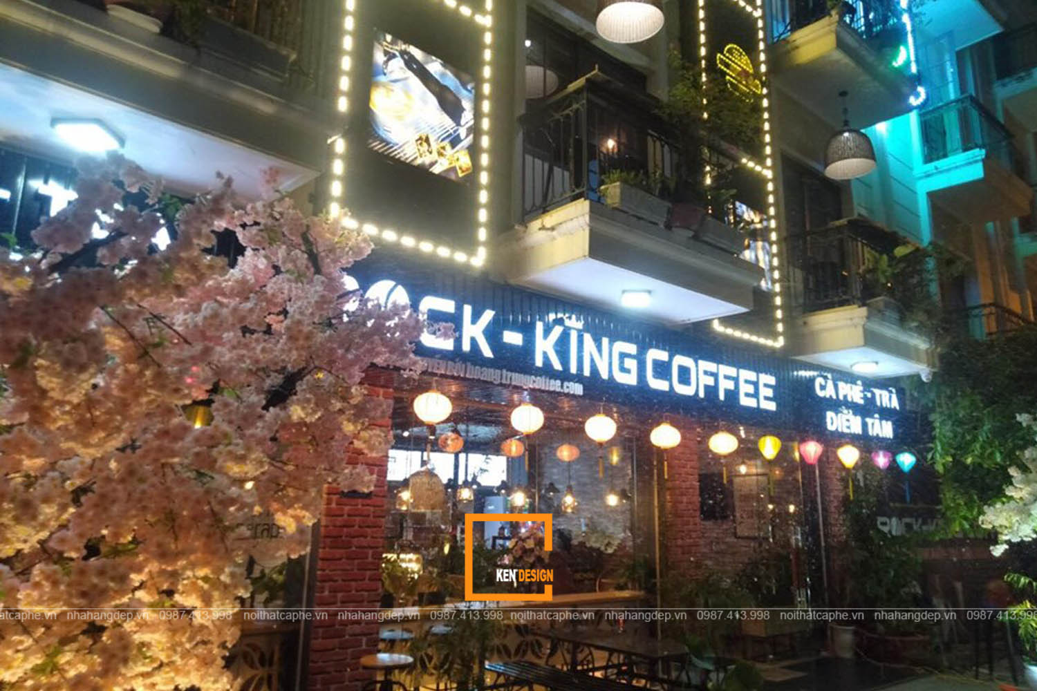 Thi công  Rock King Coffee