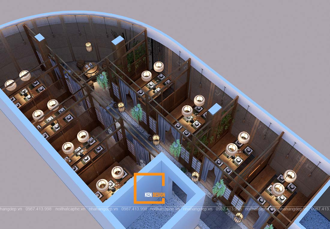 thi công kiến trúc nhà hàng