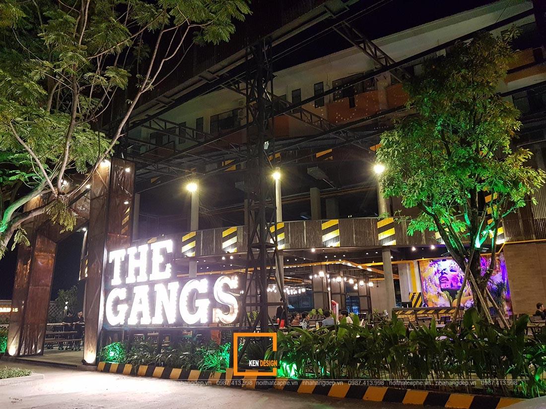 Thi công nhà hàng The Gangs
