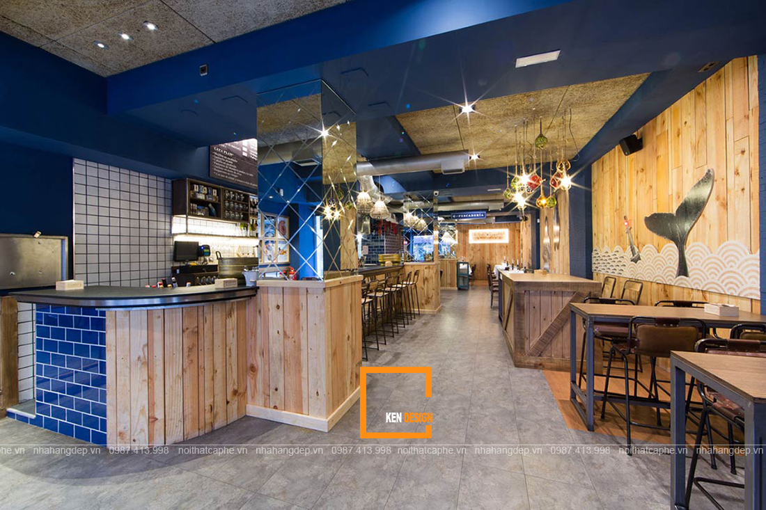 Thi công nhà hàng hải sản – bí quyết của một mô hình kinh doanh nhà hàng hút khách