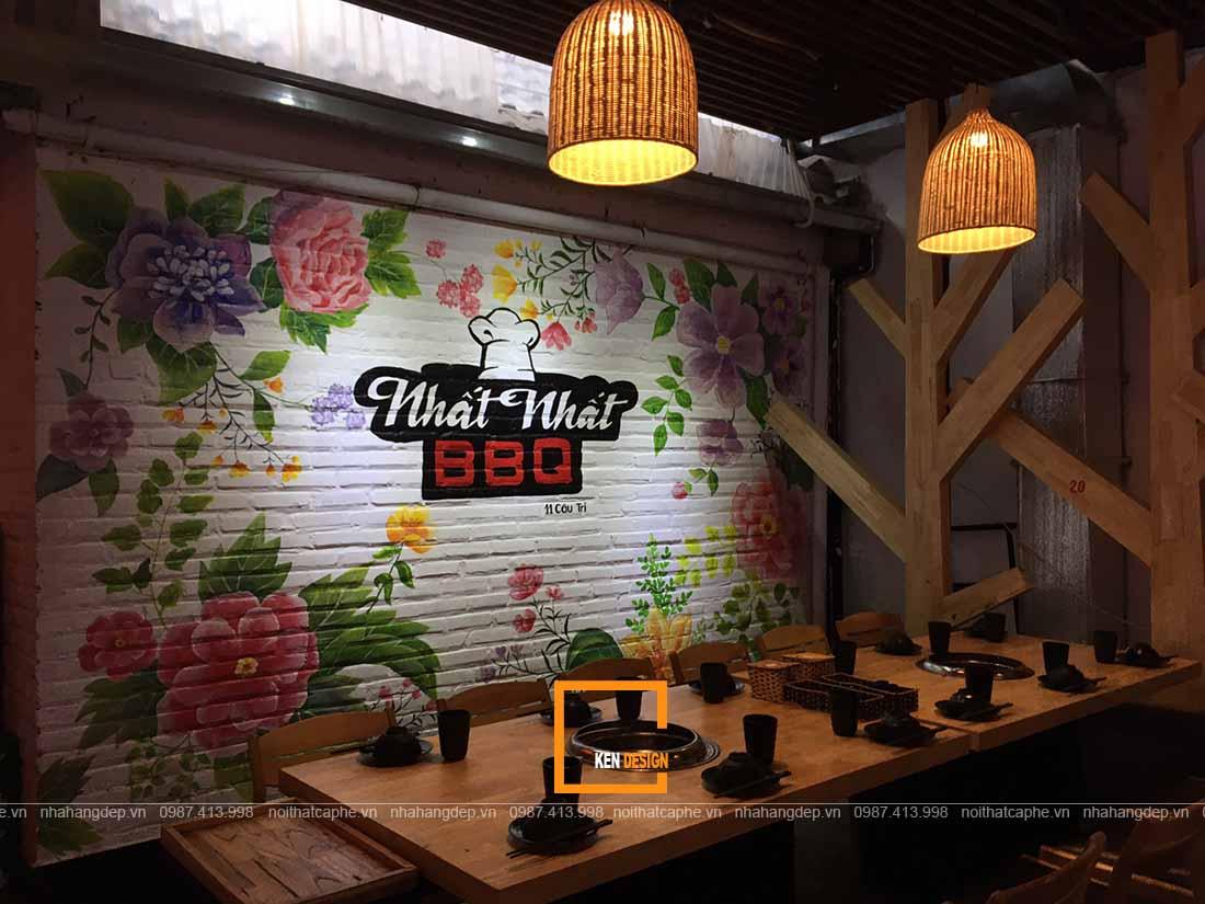 Thi công nhà hàng lẩu nướng Nhất Nhất BBQ tại Sơn Tây