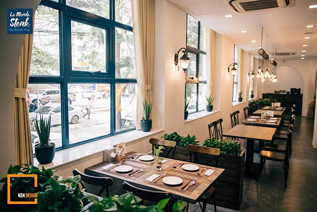 Những phong cách thiết kế nhà hàng bít tết thịnh hành hiện nay