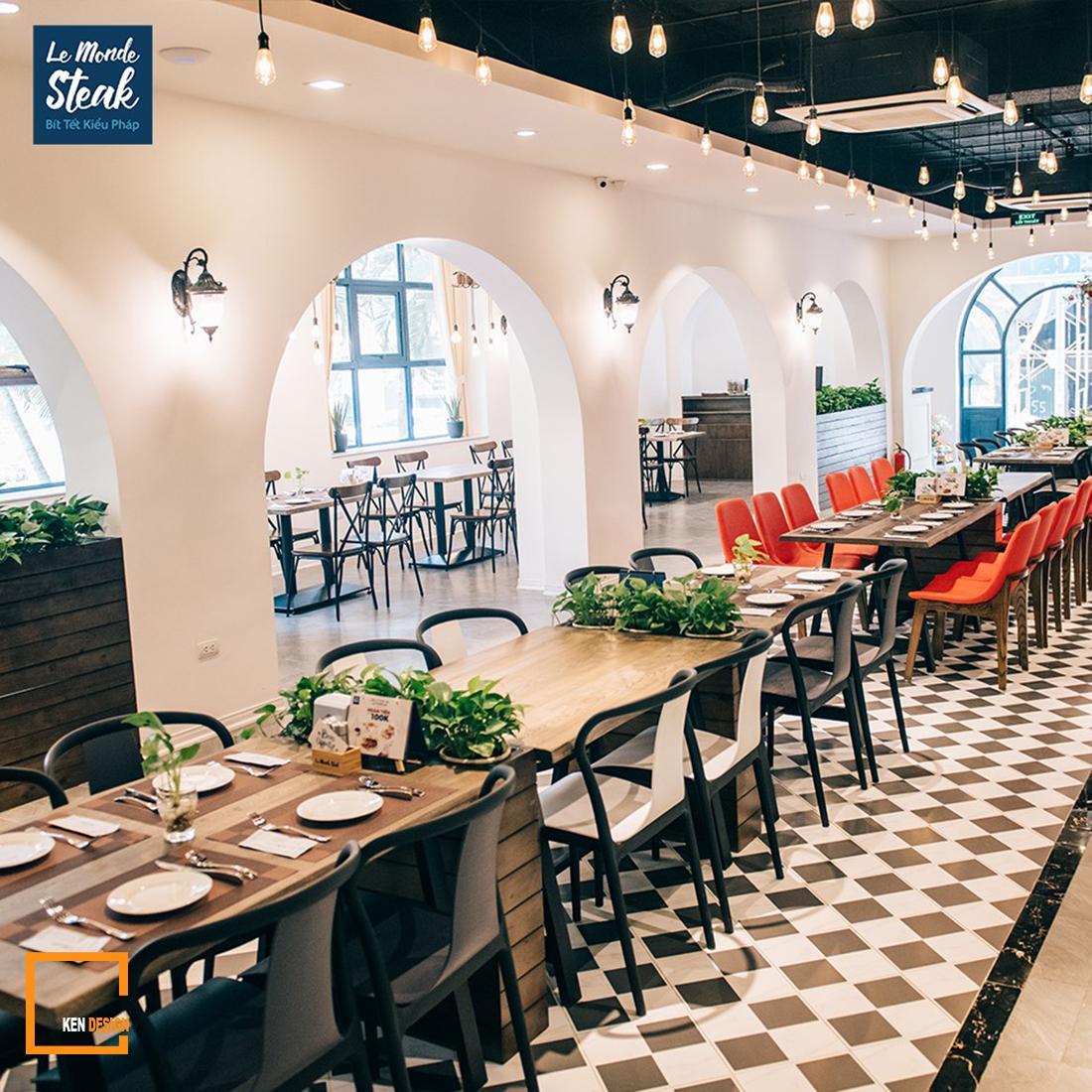 Ngắm nhìn 4 mẫu thiết kế nhà hàng bít tết của KenDesign