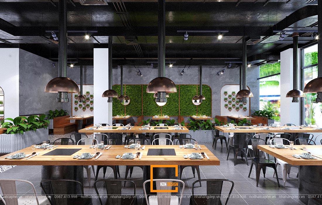 thiết kế chuỗi nhà hàng