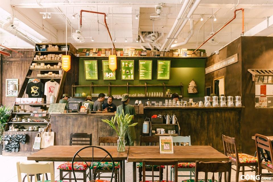 Những điểm nổi bật trong thiết kế quán Cộng cà phê