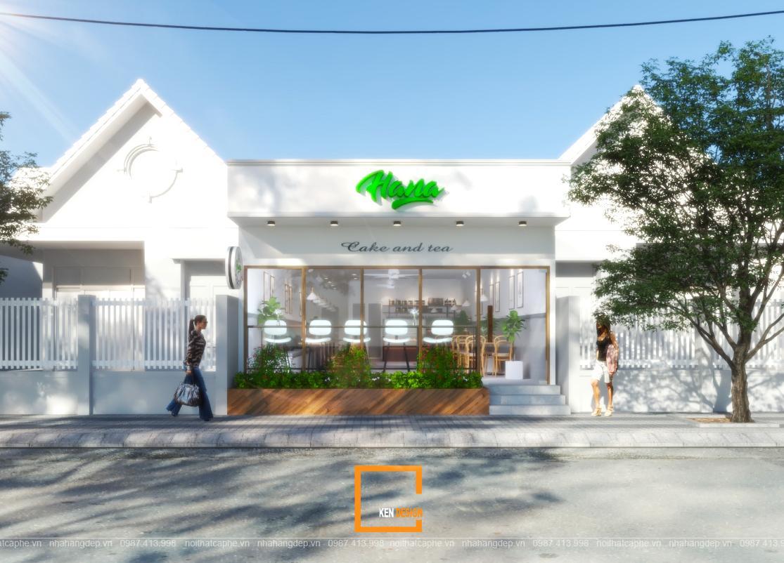 Thiết kế cửa hàng trà - bánh ngọt Hana tại Bình Thuận