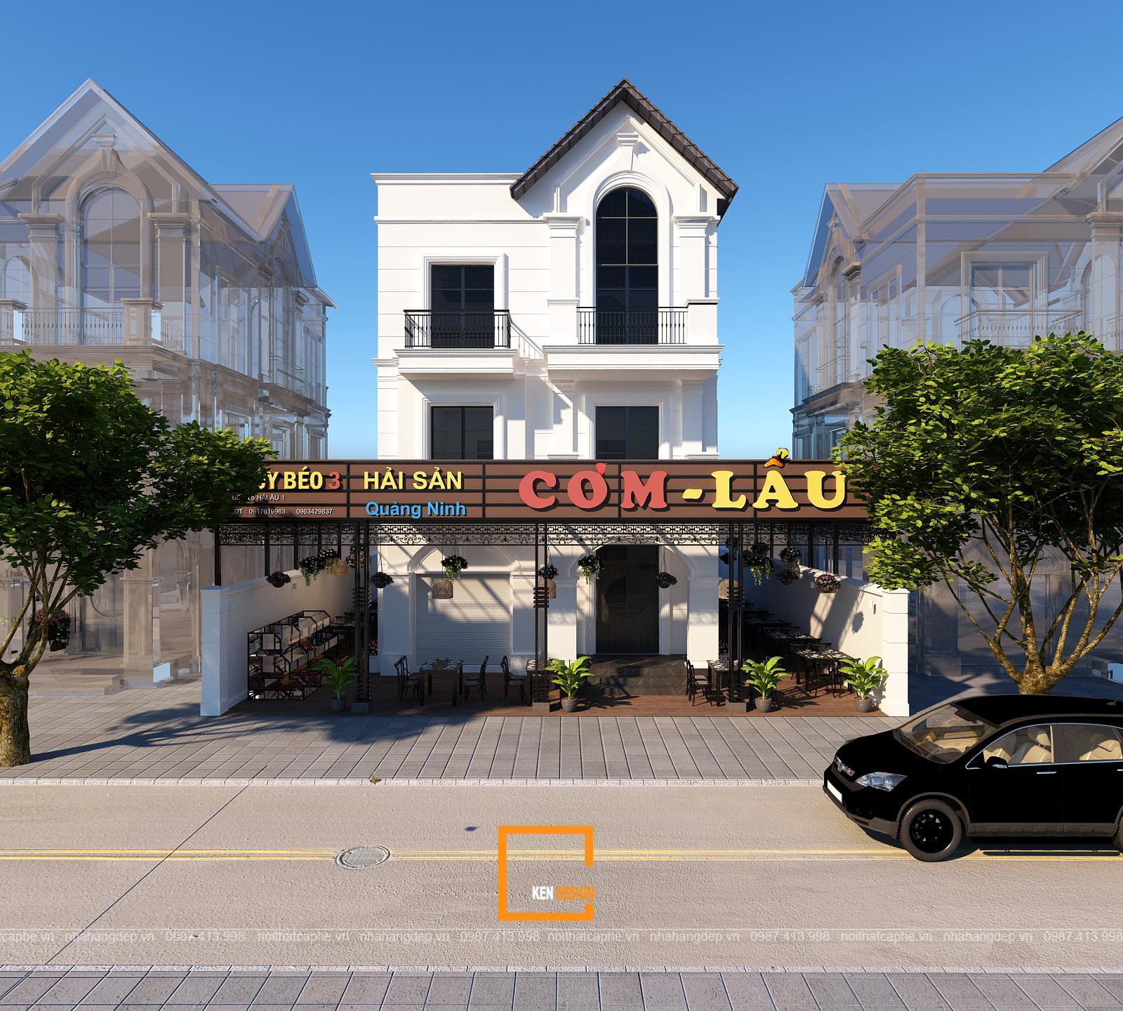 Thiết kế tổ hợp nhà hàng Cơm Lẩu tại KĐT Vinhome OCean Park