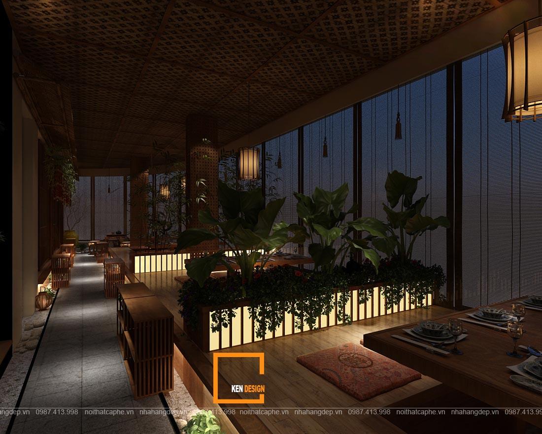 thiết kế không gian nhà hàng ăn uống