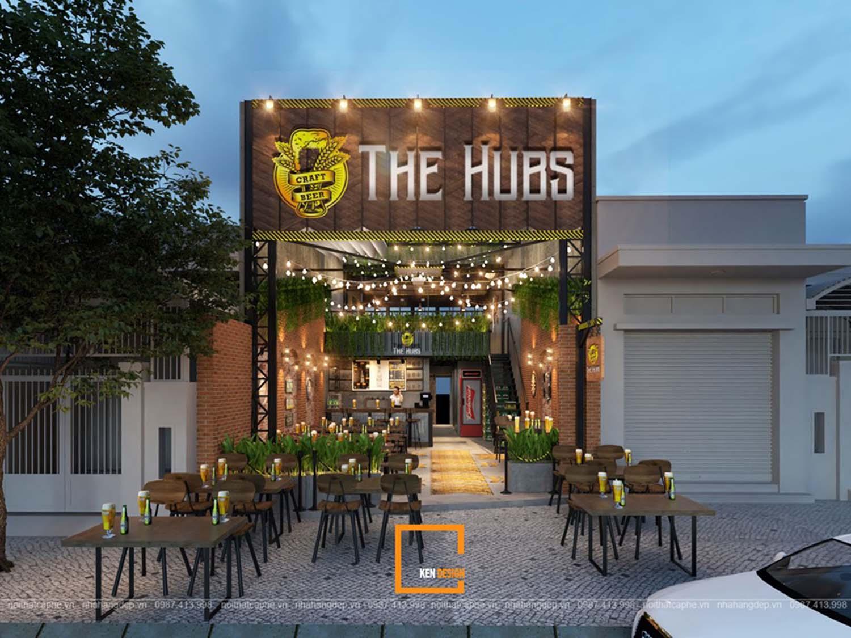 thiết kế mặt tiền nhà hàng