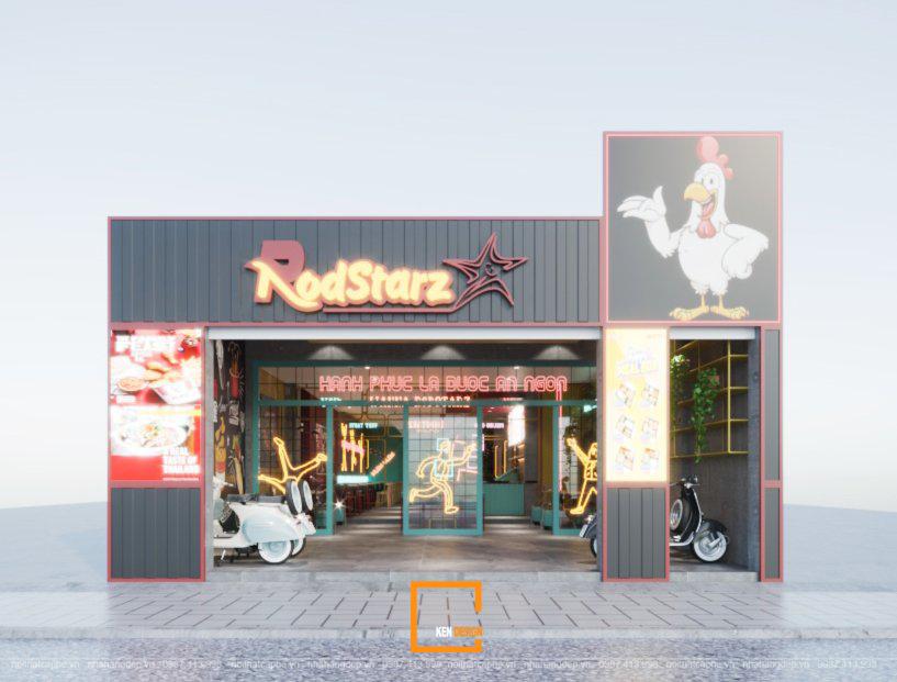 Thiết kế nhà hàng ăn nhanh RodStarz độc lạ tại Vũng Tàu