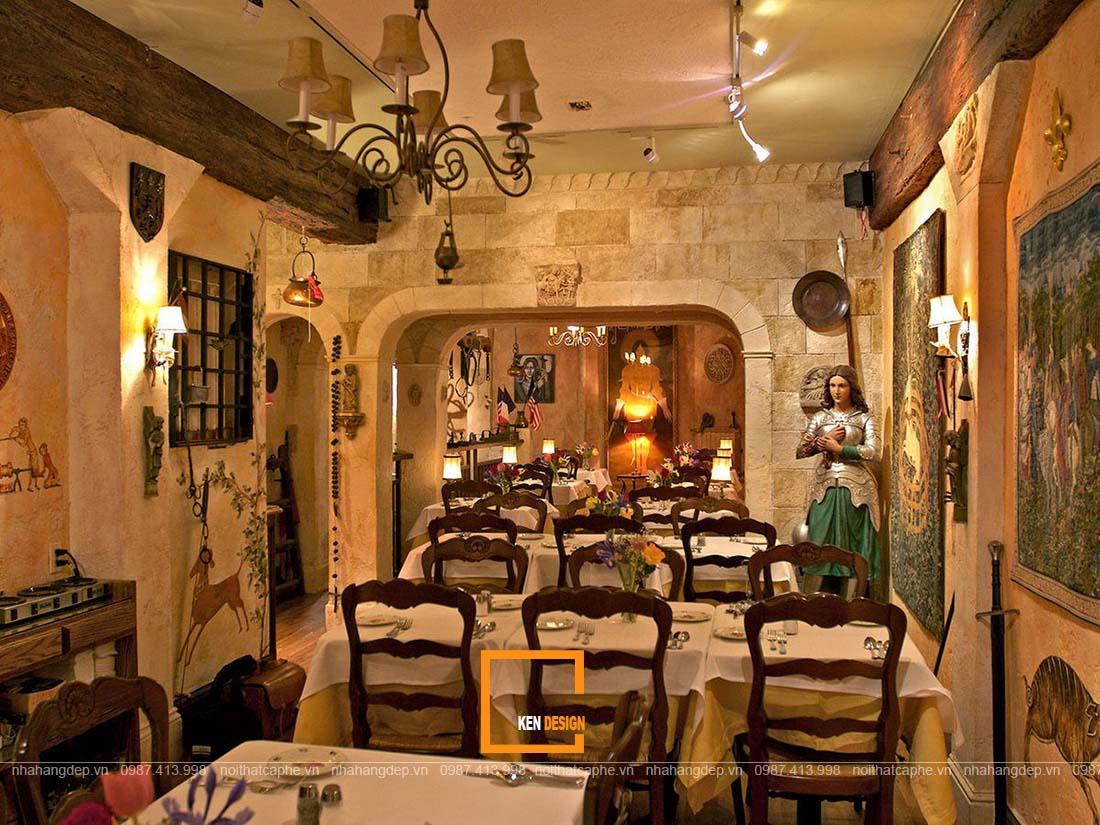 thiết kế nhà hàng Âu