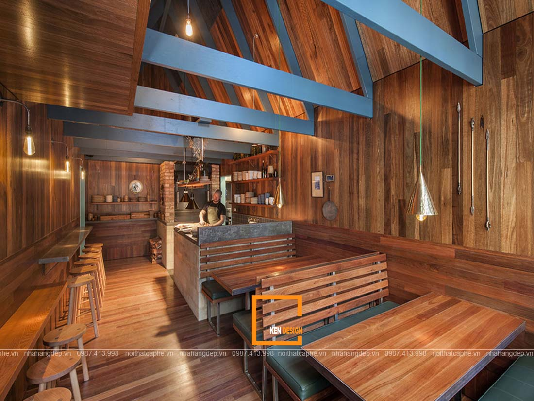 Thiết kế nhà hàng bằng gỗ - ý tưởng độc đáo mọi thời đại