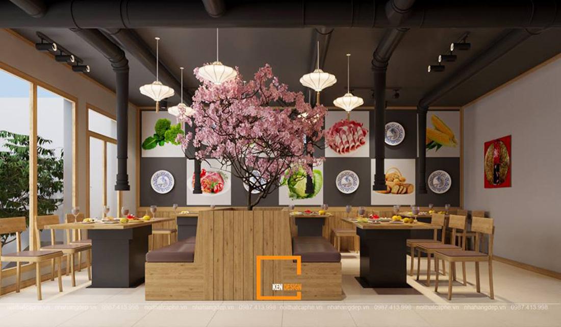 thiết kế nhà hàng cao cấp phong cách Nhật Bản