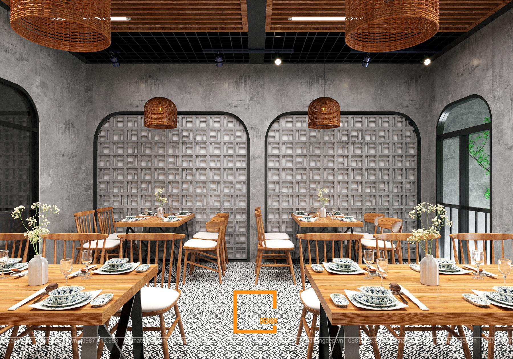 Thiết kế nhà hàng Cơm gà Sơn Tây - đâu là giới hạn của sáng tạo?