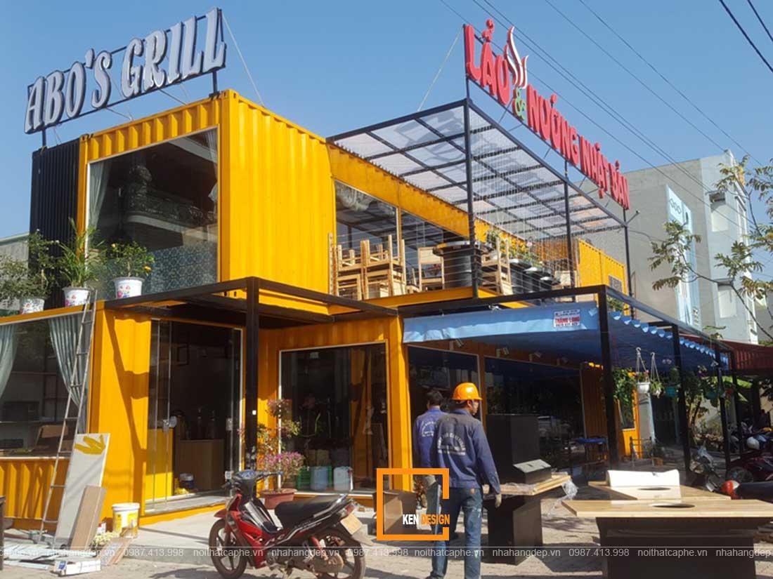 thiết kế nhà hàng Container