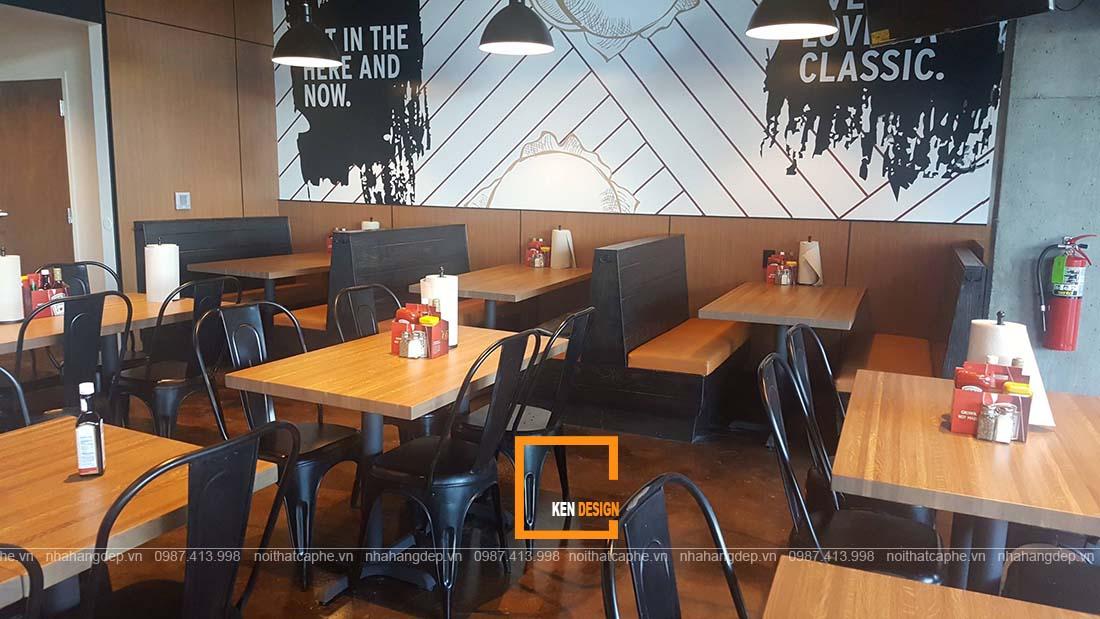 thiết kế nhà hàng đơn giản