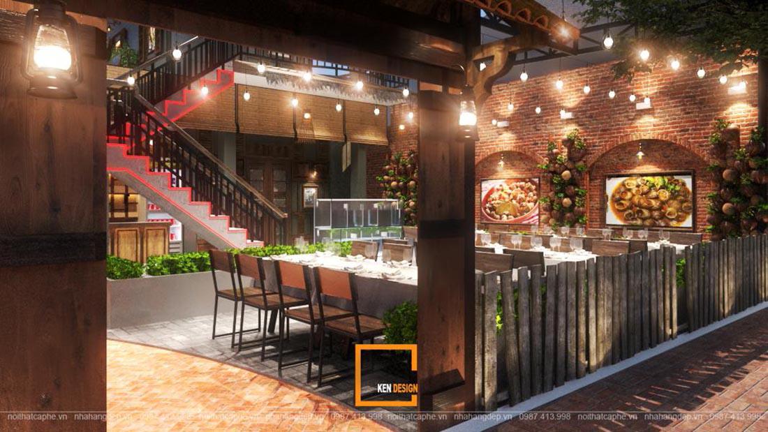 Gây thương nhớ với thiết kế nội thất nhà hàng phong cách đồng quê
