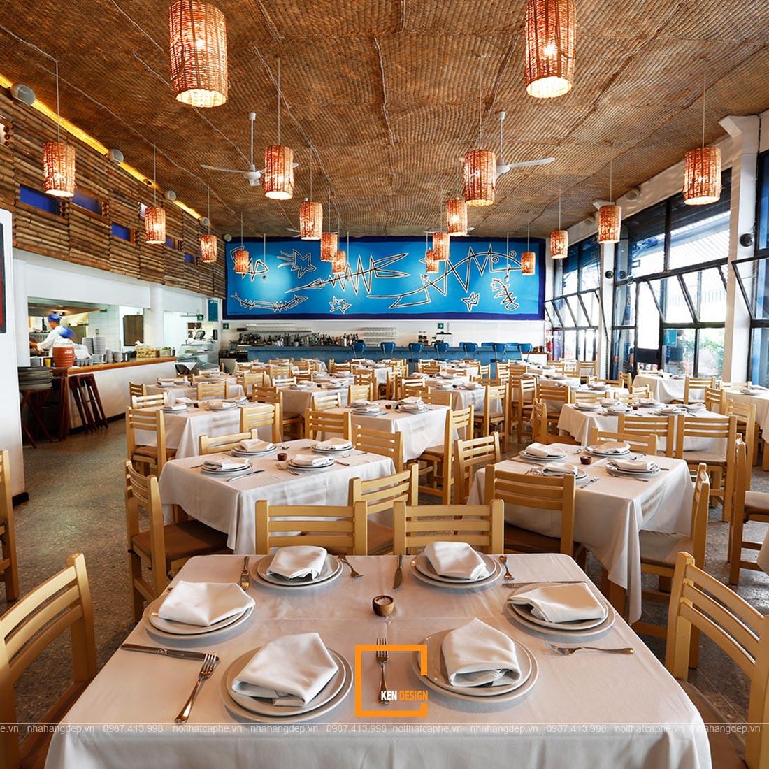 thiết kế nhà hàng hải sản;