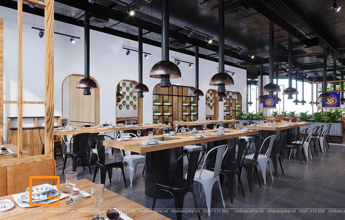 thiết kế nhà hàng lẩu nướng không khói tại Đà Nẵng